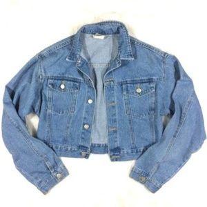 80's/90's Vintage Cropped Denim Jean Jacket